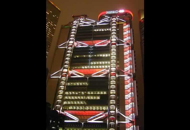 HSBC香港の夜の風景
