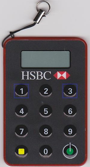 HSBC香港セキュリティーデバイス