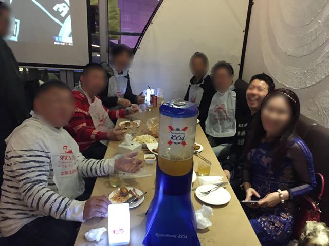 深セン蛇口のシーフードレストランで夕食