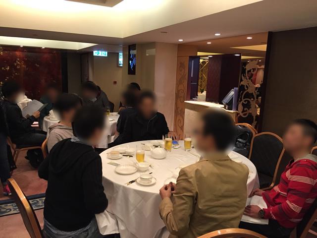 香港オフ会で北京ダックを食べる