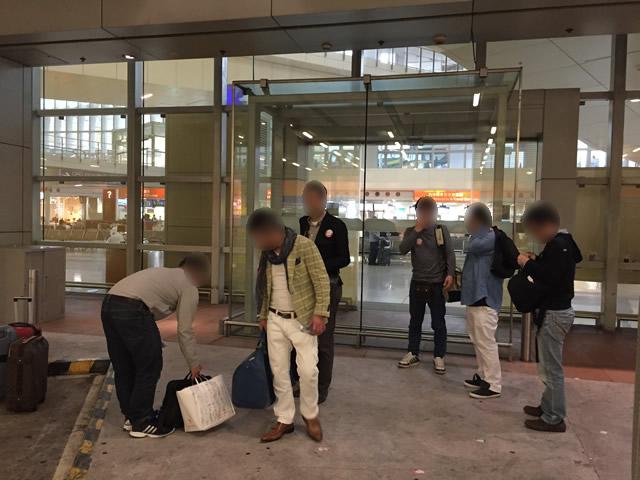 香港オフ会で香港国際空港に集合
