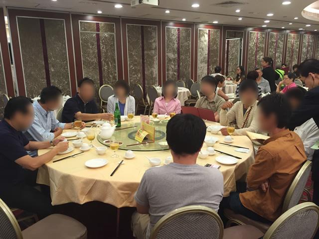 香港オフ会のディナーは北京ダック