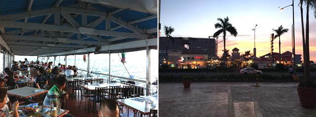 マニラオフ会の前夜祭はマニラ湾の夜景を眺めながら食事