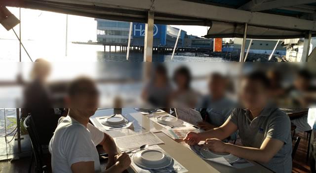 Harborviewレストランでマニラオフ会のスタート