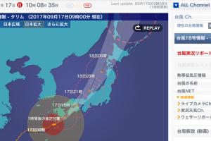 大型台風が日本列島を縦断
