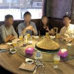 香港オフ会の夕食会で海鮮蒸し料理を堪能