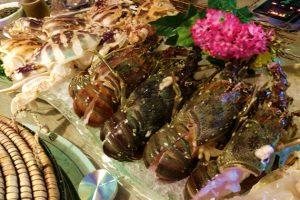 香港オフ会で食べる海鮮蒸し