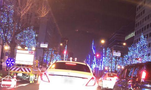 大阪御堂筋のイルミネーションが綺麗だった