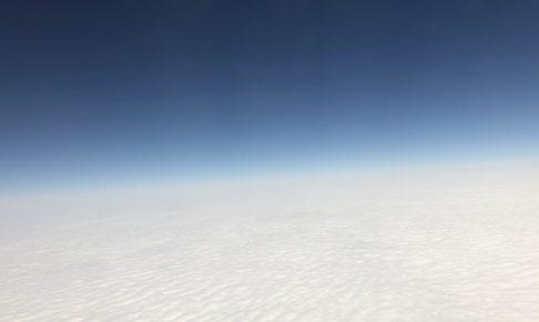 宮古島から帰る飛行機の窓からの景色