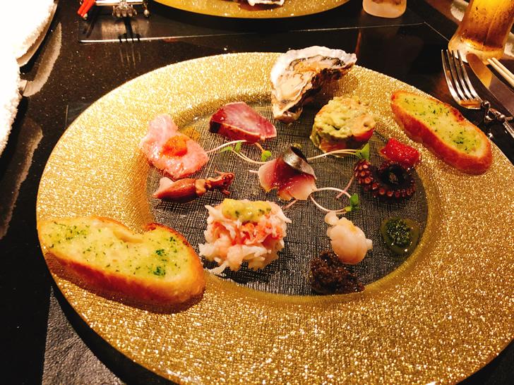 大阪オフ会で準備された一皿目のお料理