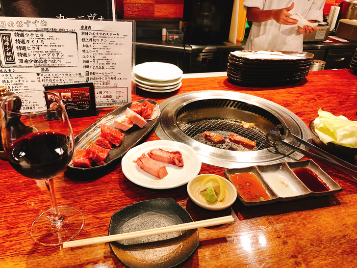 大阪オフ会直後の一人焼肉の様子(笑)
