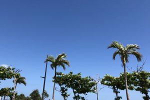 沖縄の綺麗な空