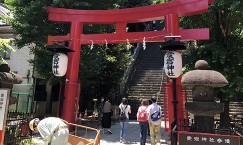 愛宕神社の出世の石段を登ってきた