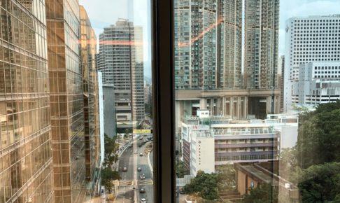 香港で気持ちのいい朝を迎えております