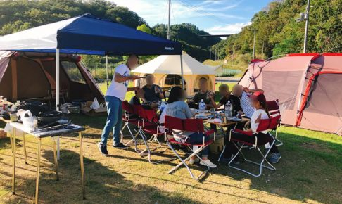チームZEROで総勢10名のキャンプを満喫