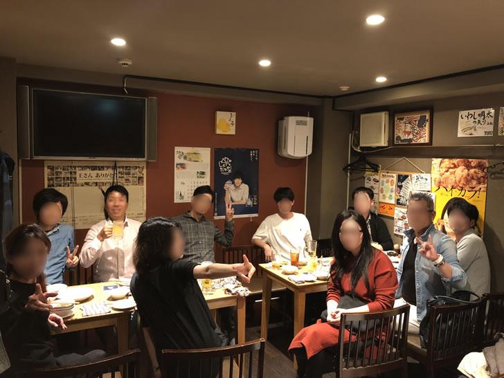 東京での収入の柱構築セミナー中級編の後の懇親会の様子