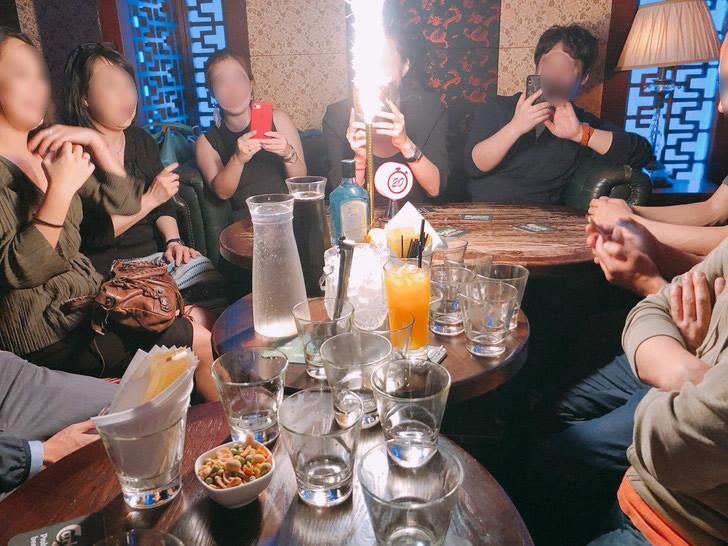 香港オフ会の二次会はナッツフォードテラスでファイヤーのパターン(笑)