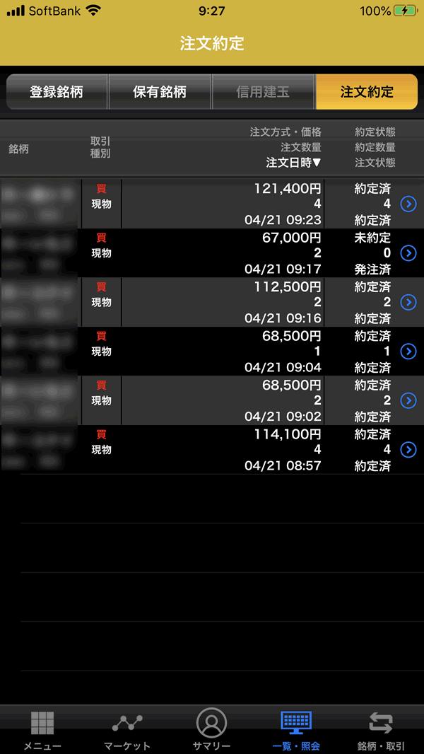 本日購入したJ-REIT一覧