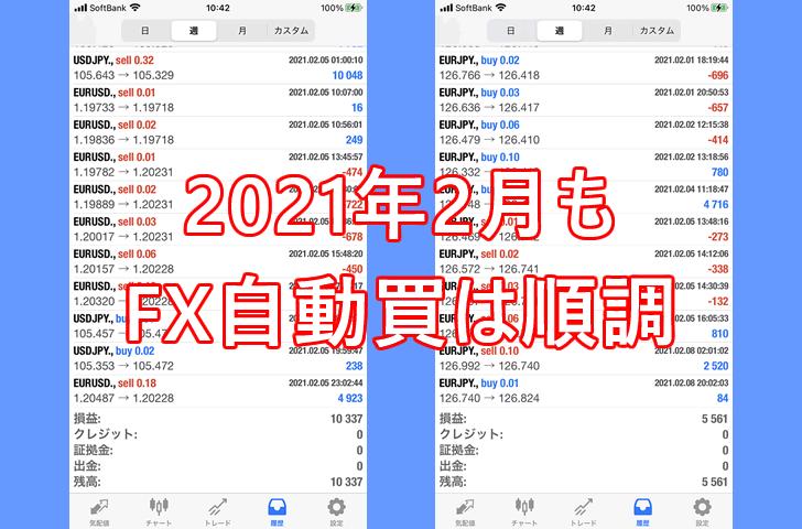 FX自動売買は2月も良い滑り出し