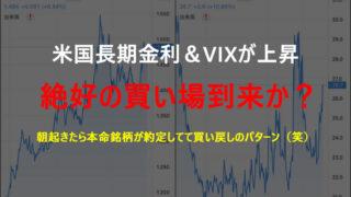 米国債金利&VIXが上昇し米国株が下落したタイミングは絶好の買い場かも