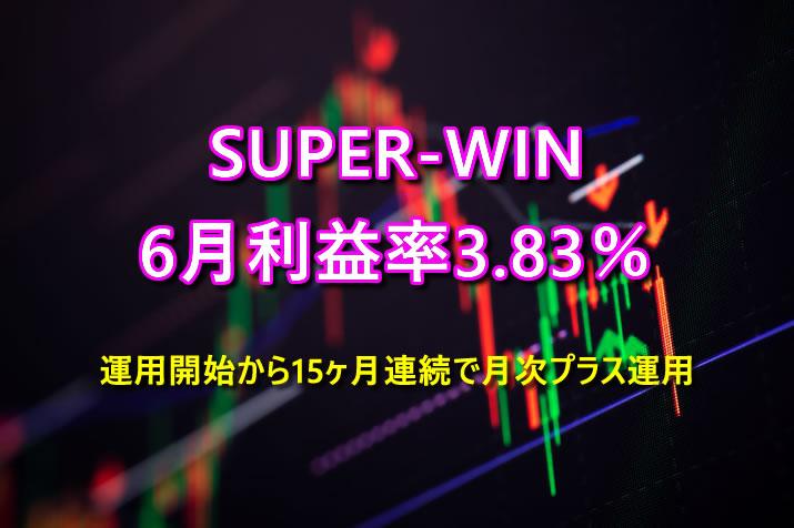 2021年6月のSUPER-WINは利益率3.83%で15ヶ月連続で月次プラス運用