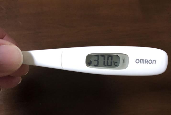 コロナワクチン接種1日後に微熱