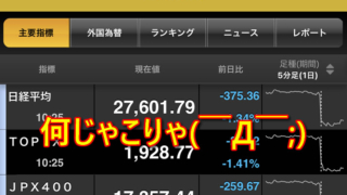 お盆明けの日本市場は下げ下げの相場( ̄Д ̄;)
