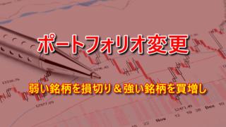 米国株のポートフォリオを変更しました