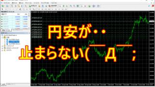 9月末から円安が止まらないパターン( ̄Д ̄;)
